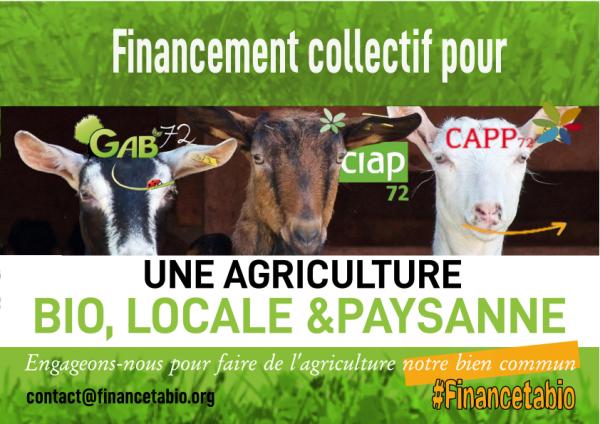 """""""Financetabio"""" en SARTHE : appel à mobilisation collective pour le GAB72, la CIAP72 et CAPP72"""
